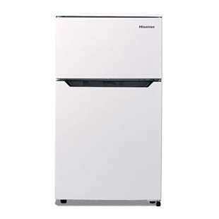 【送料無料】Hisense HR-B95A ホワイト [冷蔵庫 (93L・右開き・2ドア)]★メーカー1年保証付