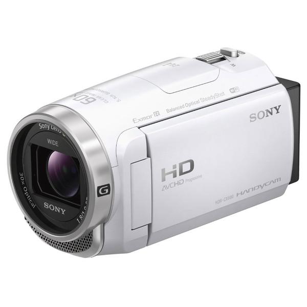 【送料無料】ソニー (SONY) HDR-CX680-W ホワイト [デジタルHD ビデオカメラ レコーダー] ハンディカム