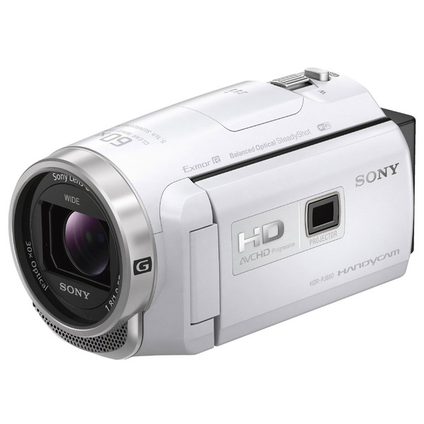 【送料無料】SONY HDR-PJ680-W ホワイト ハンディカム [デジタルHDビデオカメラレコーダー]