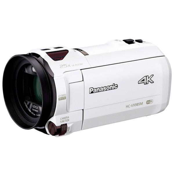 【送料無料】PANASONIC HC-VX985M-W ホワイト [デジタル4Kビデオカメラ]