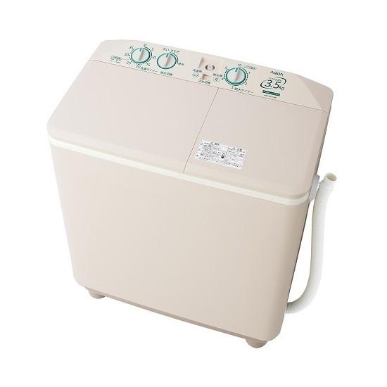 【送料無料】AQUA AQW-N351-HS ソフトグレー [2槽式洗濯機(3.5kg)]