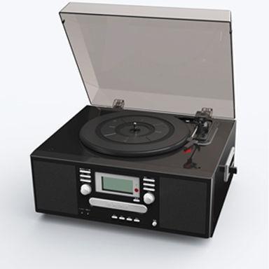 【送料無料】とうしょう TS-7885PBL ブラック系 [WCDコピーマルチプレーヤー] レトロ 大画面 自動曲番入り CD カセット レコード 録音 ラジオ ピアノブラック