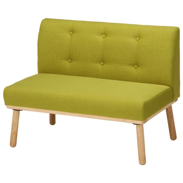 【送料無料】ソファ ダイニングチェア 椅子 2人掛け 北欧 グリーン モダン 木製 ヘームル Natural Signature