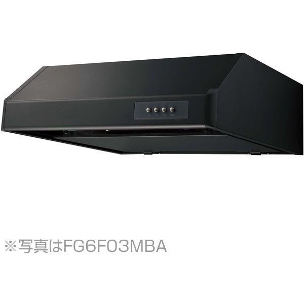 【送料無料】NORITZ NFG6F03MBA ブラック [レンジフード (平型 シロッコファン・幅60cm)]
