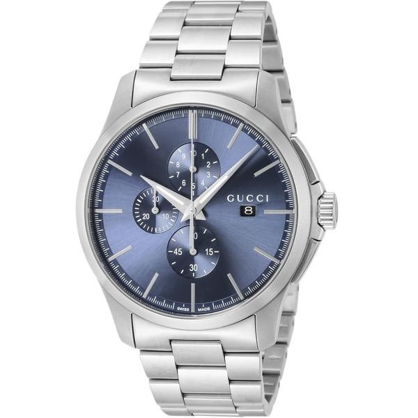 【送料無料】GUCCI(グッチ) YA126273 ブルー/シルバー [クォーツ腕時計 (メンズウオッチ)] 【並行輸入品】