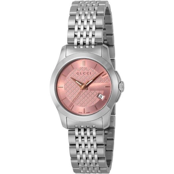 【送料無料】GUCCI(グッチ) YA126566 シルバー/ピンク [クォーツ腕時計 (レディースウオッチ)] 【並行輸入品】