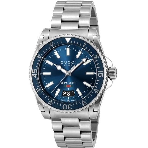 【送料無料】GUCCI(グッチ) YA136311 シルバー/ブルー [クォーツ腕時計 (メンズウオッチ)] 【並行輸入品】