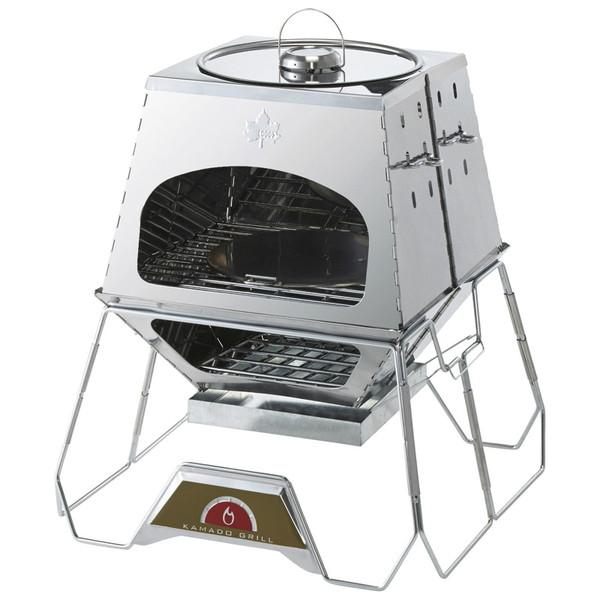 【送料無料】ロゴス LOGOS the KAMADO [多機能万能調理グリル] たき火台 アウトドア BBQ バーベキュー キャンプ ダッチオーブン使用可能 専用収納バッグ付き 鍋料理 オーブン料理