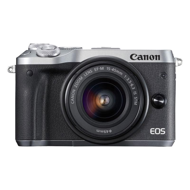 CANON EOS M6 EF-M15-45 IS STM レンズキット シルバー [ミラーレスカメラ]