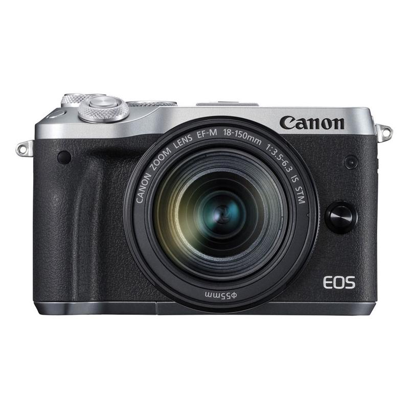 【送料無料】CANON EOS M6 EF-M18-150 IS STM レンズキット シルバー [ミラーレスカメラ]