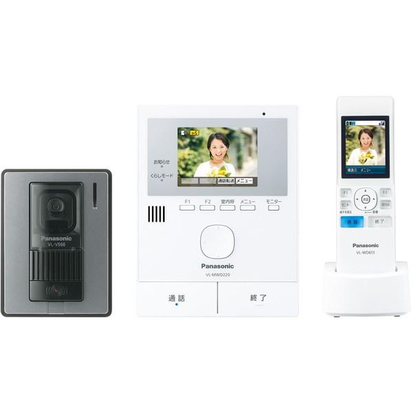 【送料無料】PANASONIC VL-SWD220K どこでもドアホン [ワイヤレスモニター付テレビドアホン] パナソニック 配線不要 録画機能付 ワイヤレスアダプター機能 センサー 便利 映像 音声 インテリア