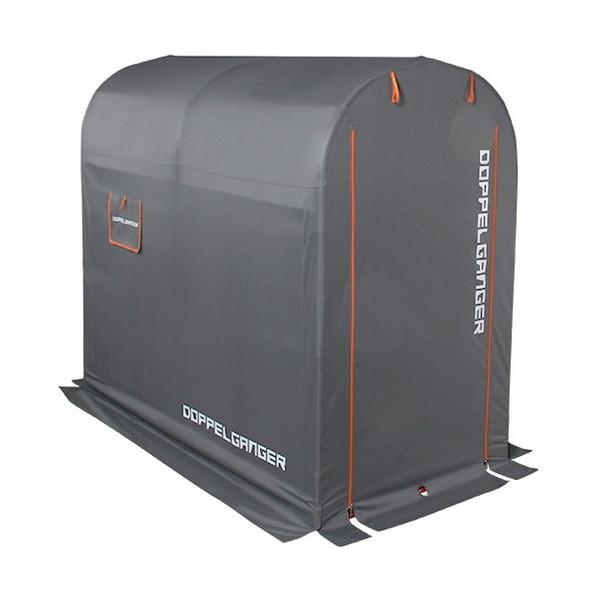 【送料無料】DOPPELGANGER DCC330M-GY グレー×オレンジ [ストレージバイクガレージ(Mサイズ)] 【同梱配送不可】【代引き・後払い決済不可】【沖縄・離島配送不可】