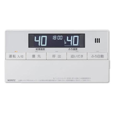 NORITZ RC-J101SP 浴室リモコン エネルック [ガス給湯器用リモコン マルチセット (浴室用セット/インターホン付タイプ)]