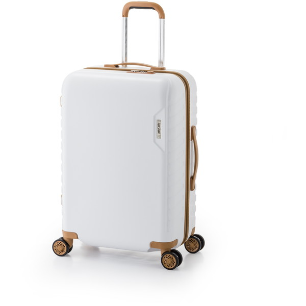【送料無料】アジア・ラゲージ MS-202-25 ホワイト マックススマート [スーツケース (50L/2~3泊)]