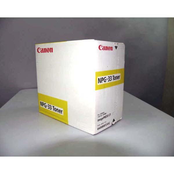 【送料無料】CANON NPG-33(Y)【同梱配送不可】【代引き不可】【沖縄・北海道・離島配送不可】
