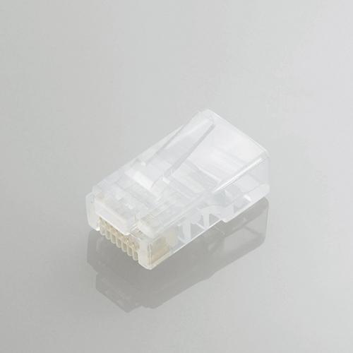 【送料無料】ELECOM LD-RJ45TY100/T [Cat5e対応ツメ折れ防止LANコネクタ(100個入)] 【同梱配送不可】【代引き・後払い決済不可】【沖縄・離島配送不可】