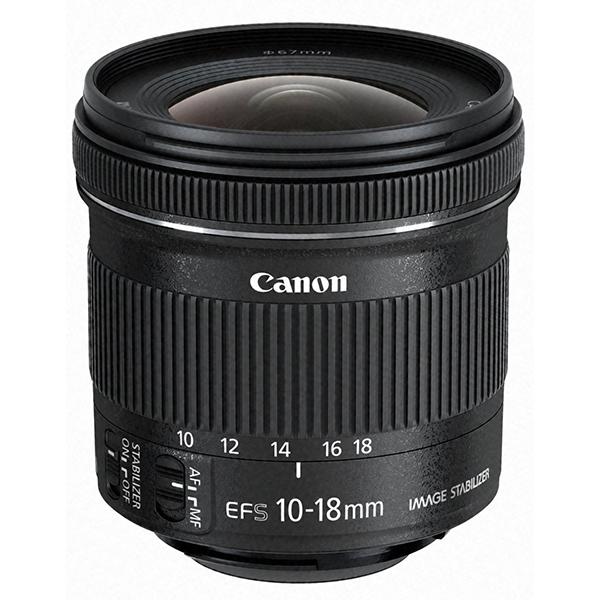 【送料無料】CANON EF-S10-18mm F4.5-5.6 IS STM [超広角ズームレンズ キヤノンマウント]