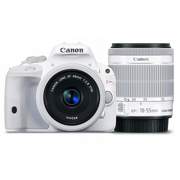 【送料無料】CANON EOS Kiss X7 ダブルレンズキット 2 ホワイト [デジタル一眼レフカメラ(1800万画素)]
