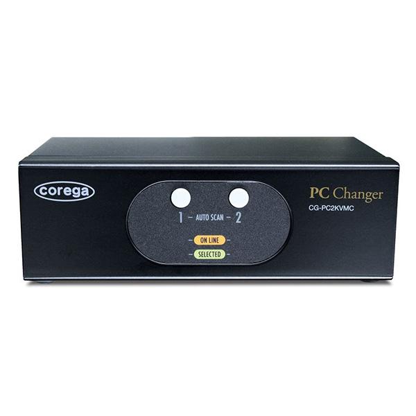 【送料無料】COREGA CG-PC2KVMC-W [USB&PS/2対応 PC切替器(2台用)] 【同梱配送不可】【代引き・後払い決済不可】【沖縄・北海道・離島配送不可】