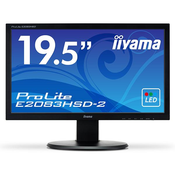 【送料無料】iiyama E2083HSD-B2 マーベルブラック ProLite(プロライト) [19.5型ワイド液晶ディスプレイ(ノングレア)] 【同梱配送不可】【代引き・後払い決済不可】【沖縄・離島配送不可】