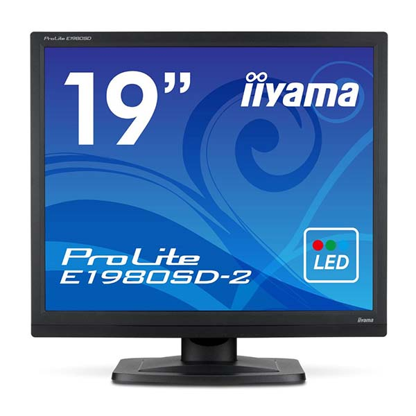 【送料無料】iiyama E1980SD-B2 マーベルブラック ProLite [19型スクエア液晶ディスプレイ] 【同梱配送不可】【代引き・後払い決済不可】【沖縄・北海道・離島配送不可】