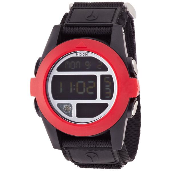 【送料無料】NIXON A489760 LEDフラッシュライト オールブラック/レッド [腕時計] 【並行輸入品】