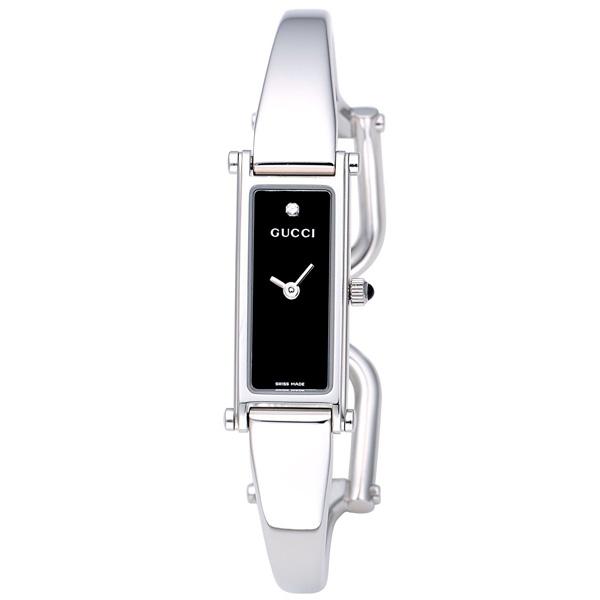【送料無料】GUCCI YA015555 1500 シリーズ 1Pダイヤ ブラック [腕時計 レディース] 【並行輸入品】