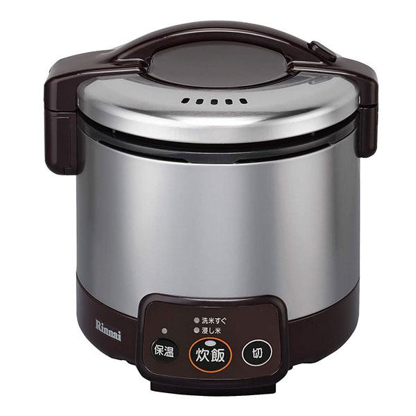 【送料無料】Rinnai RR-030VM(DB)-13A ダークブラウン こがまる [ガス炊飯器(都市ガス用・3合炊き)]