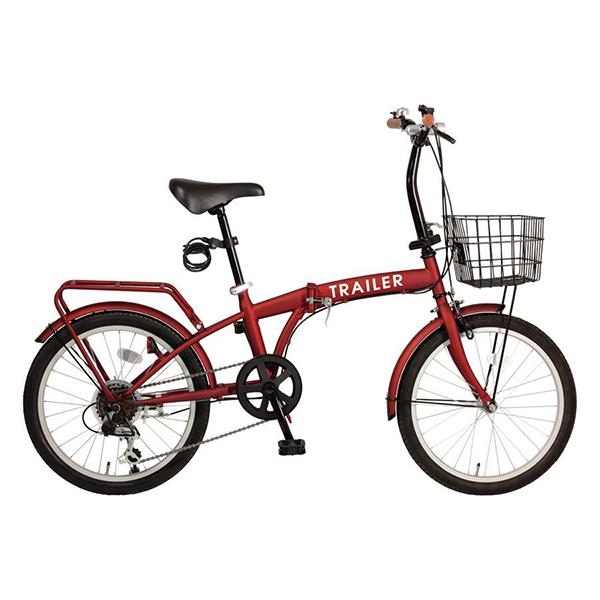【送料無料】TRAILER BGC-F20-RD レッド [折りたたみ自転車(20インチ・6段変速)]【同梱配送不可】【代引き不可】【沖縄・北海道・離島配送不可】