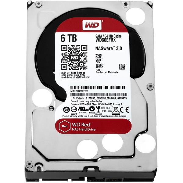 【送料無料】WESTERN DIGITAL WD60EFRX WD RED [3.5インチ SATA600 6TB 内蔵ハードディスク]