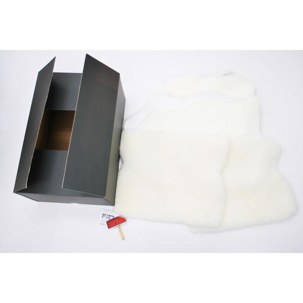 BMS LB-07WH ホワイト [ラグジュアリームートン クッション タイプ5 (短毛/サイズ60×50cm2枚/60×168cm2枚)]