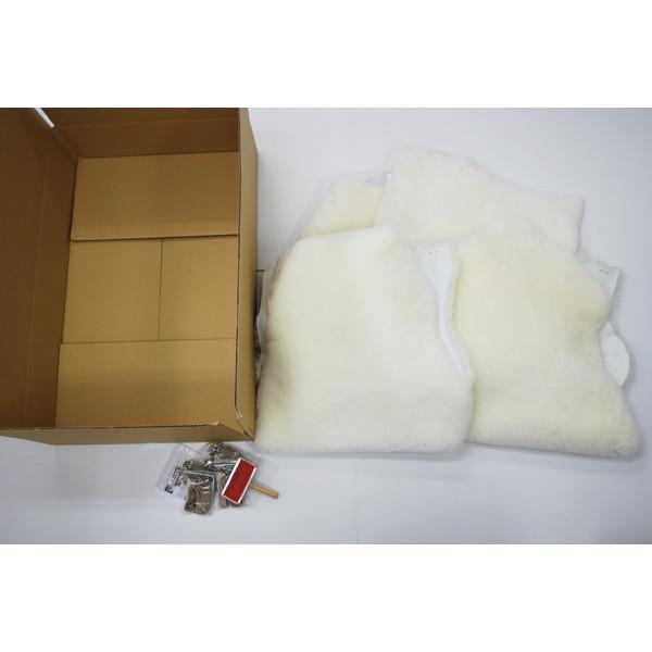 【送料無料】BMS LD-03WH ホワイト [ラグジュアリームートン シートカバー タイプA (短毛/サイズ60×120cm4枚)]