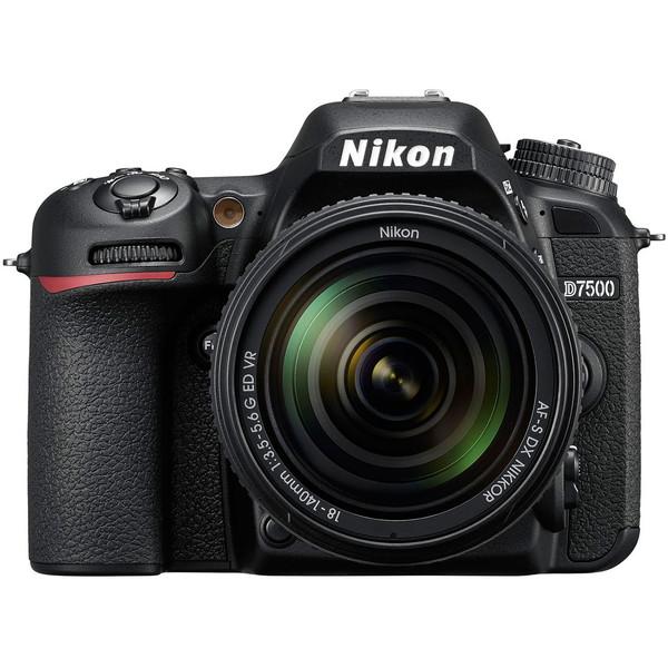 【送料無料】Nikon D7500 18-140 VR レンズキット ブラック [デジタル一眼レフカメラ(2151万画素・18-140 VR レンズキット)]