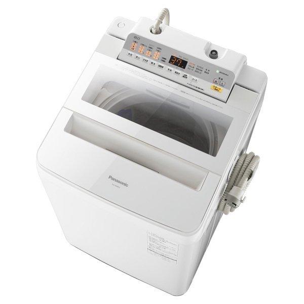 【送料無料】PANASONIC NA-FA80H5-W ホワイト [簡易乾燥機能付洗濯機(8kg)]