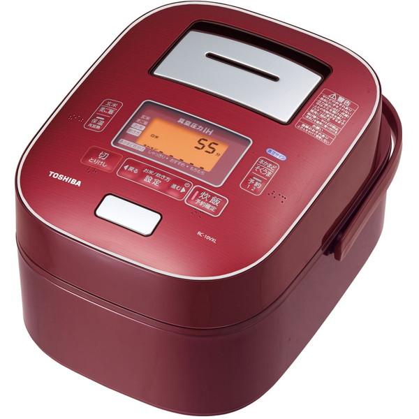 【送料無料】東芝 (5.5合炊き)] RC-10VXL(RS) ディープレッド ディープレッド 鍛造かまど本丸鉄釜 [可変圧力IH炊飯器 (5.5合炊き)], MODEL(インテリア雑貨):4b55edf1 --- rakuten-apps.jp
