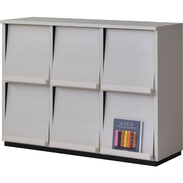 タカシン家具工業 WF-8012DP WH ホワイト ウォルフィット [フラップ扉キャビネット 3列2段] メーカー直送