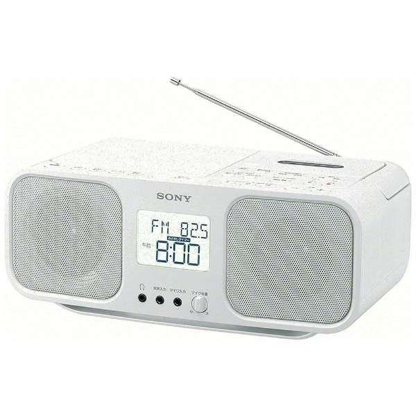 【送料無料】SONYCFD-S401 WC ホワイト [ワイドFM対応 CDラジオカセットレコーダー]