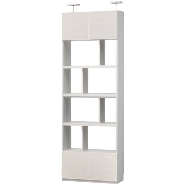 白井産業 LVA-2480DWH ホワイト リビュアル [壁面キャビネット] メーカー直送