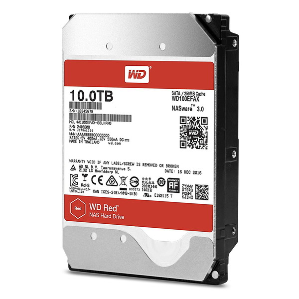 【送料無料】WESTERN DIGITAL WD100EFAX WD Red [NAS向け内蔵HDD(10TB・3.5インチ・SATA600)]