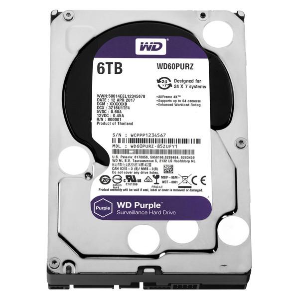 【送料無料】WESTERN DIGITAL WD60PURZ WD Purple [3.5インチ内蔵HDD(6TB・3.5インチ・SATA600)]