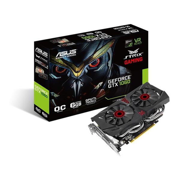 【送料無料】ASUS STRIX-GTX1060-DC2O6G [ビデオカード(PCIExp 6GB)]