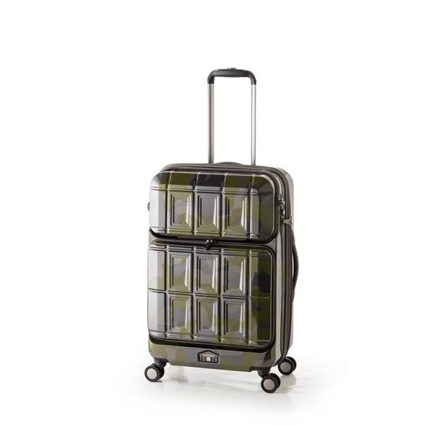 【送料無料】アジア・ラゲージ PTS-6006 グリーンカモフラージュ PANTEON [スーツケース (54L+8L・2~3泊)]