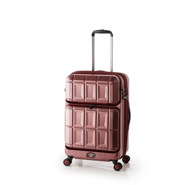 【送料無料】アジア・ラゲージ PTS-6006 マットブラッシュレッド PANTEON [スーツケース (54L+8L・2~3泊)]