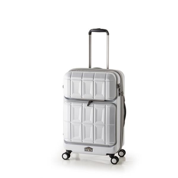 【送料無料】アジア・ラゲージ PTS-6006 マットブラッシュホワイト PANTEON [スーツケース (54L+8L・2~3泊)]