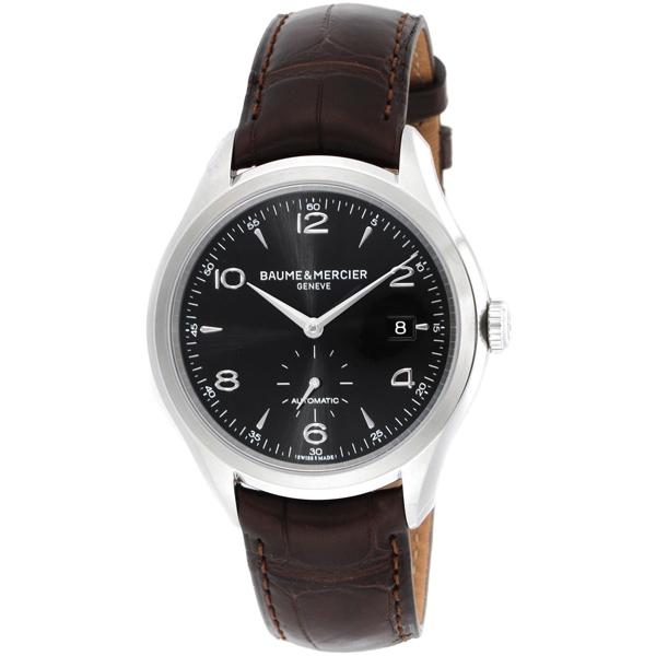 【送料無料】BAUME&MERCIER ボーム&メルシエ ボーム&メルシェ MOA10053 クリフトン アリゲーターレザー ブラック/ブラウン [メンズ 腕時計]