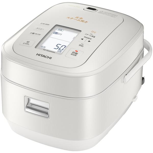 【送料無料】日立 RZ-AW3000M-W パールホワイト ふっくら御膳 [圧力スチームIH炊飯器(5.5合)]