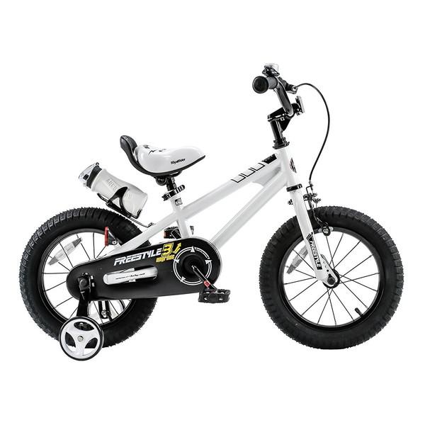 【送料無料】ROYAL BABY RB-WE FREESTYLE 14 white (35964) [子供用自転車(14インチ)補助輪付き]【同梱配送不可】【代引き不可】【沖縄・北海道・離島配送不可】