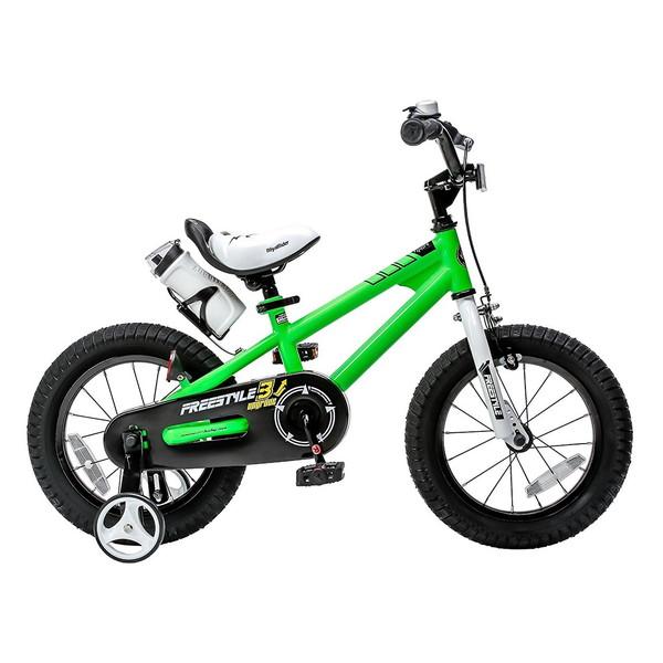 【送料無料】ROYAL BABY RB-WE FREESTYLE 16 green (35968) [子供用自転車(16インチ)補助輪付き]【同梱配送不可】【代引き不可】【沖縄・北海道・離島配送不可】