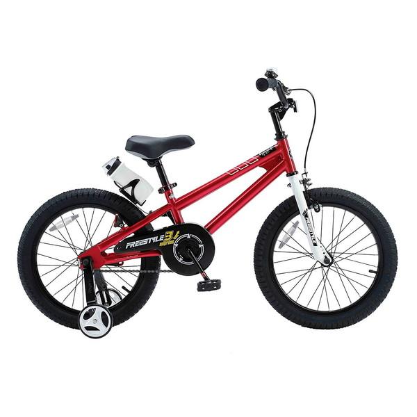 【送料無料】ROYAL BABY RB-WE FREESTYLE 18 red (35971) [子供用自転車(18インチ)補助輪付き]【同梱配送不可】【代引き不可】【沖縄・北海道・離島配送不可】