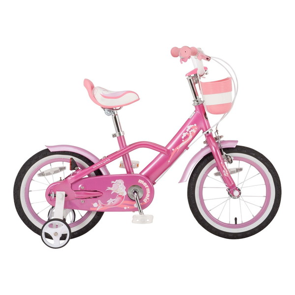 【送料無料】ROYAL BABY RB-WE MERMAID 18 pink (35995) [子供用自転車(18インチ)補助輪付き] 【同梱配送不可】【代引き・後払い決済不可】【沖縄・北海道・離島配送不可】